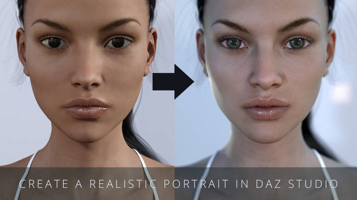 How to create a realistic portrait in Daz Studio