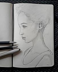Girl with earrings
