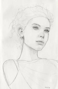 Girl with triple earring