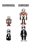Papyrus and Gaster sprites remake by VAC-BAN