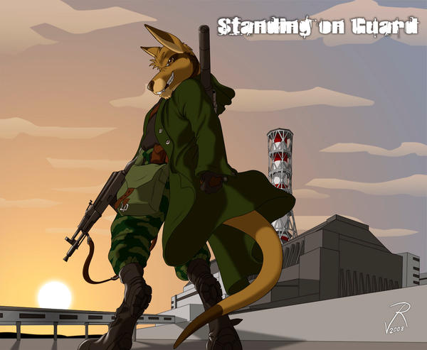 Standing on guard by JackHCrow