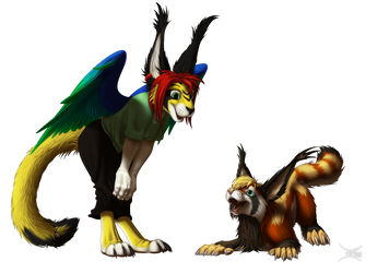 Synchra and Plugra by JackHCrow