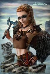 Virgo. Viking style zodiac sign.
