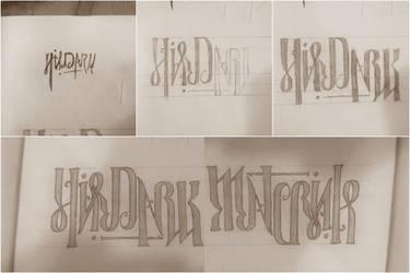 His Dark Materials Ambigram (handwritten) by JZumun