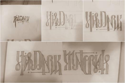 His Dark Materials Ambigram (handwritten)