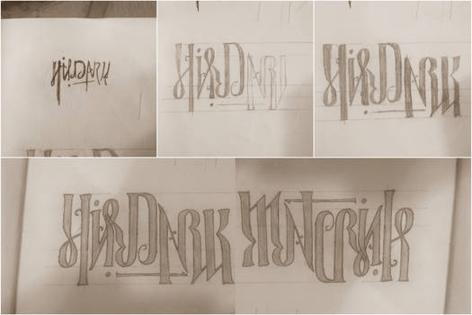 His Dark Materials Ambigram (handwritten)