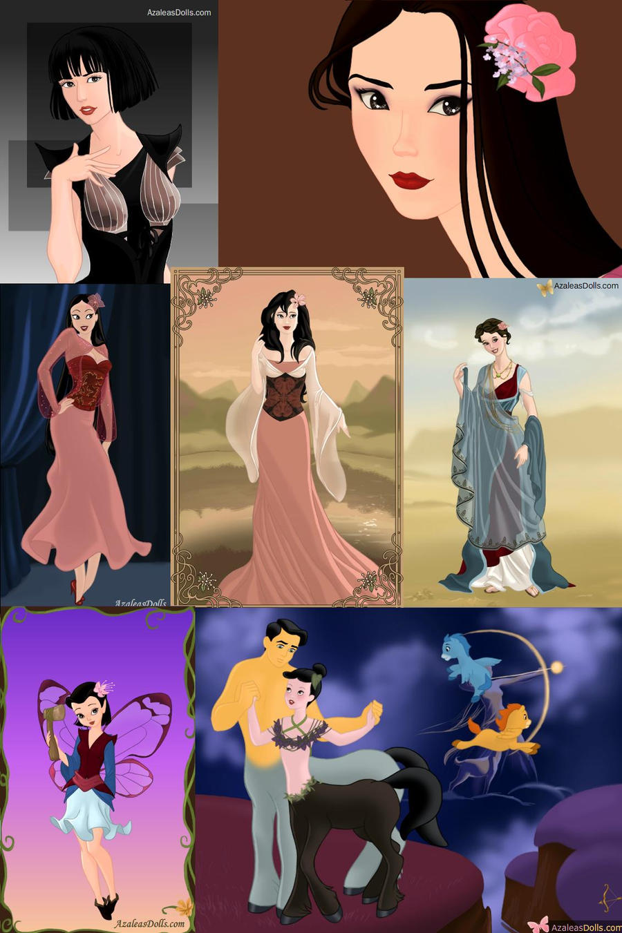 The Many Faces of Mulan by ZeldaQueen64