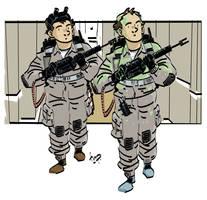 Stantz and Venkman. by timpu