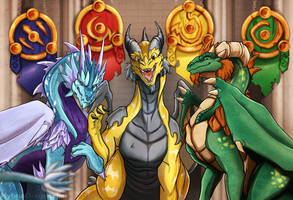Commission - A Meeting Interrupted by Hybrid-Dragoness