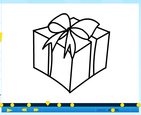 how to draw a christmas gift part 2 by sketchheroes