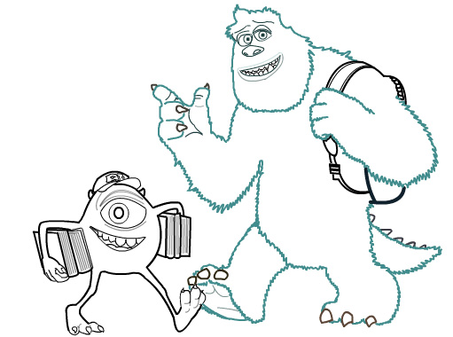 Mike Wazowski And Sully Drawing How Draw Mike Wazowski Part