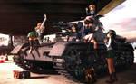 Realistic Girls und Panzer