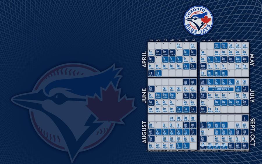 Toronto Blue Jays 2012 Schedule By Bbboz