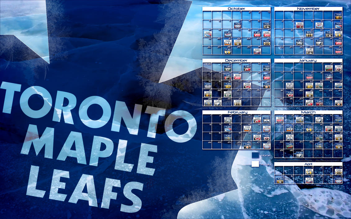 2014-2015 Toronto Maple Leafs schedule wallpaper by bbboz