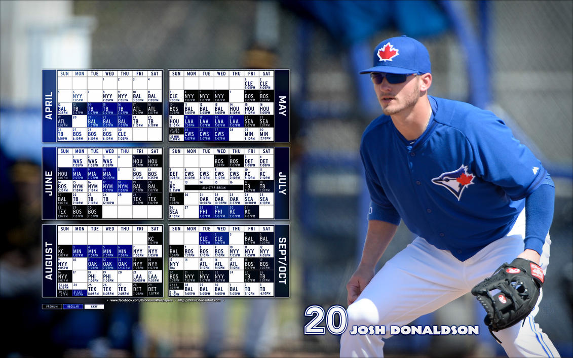 2015 Toronto Blue Jays schedule Wallpaper by bbboz