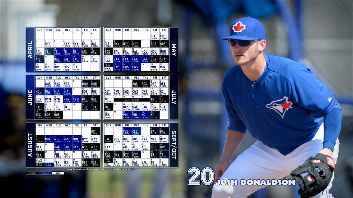 2015 Toronto Blue Jays schedule Wallpaper 16x9 by bbboz