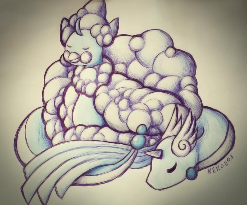 Altaria and Dragonair by Nekodox