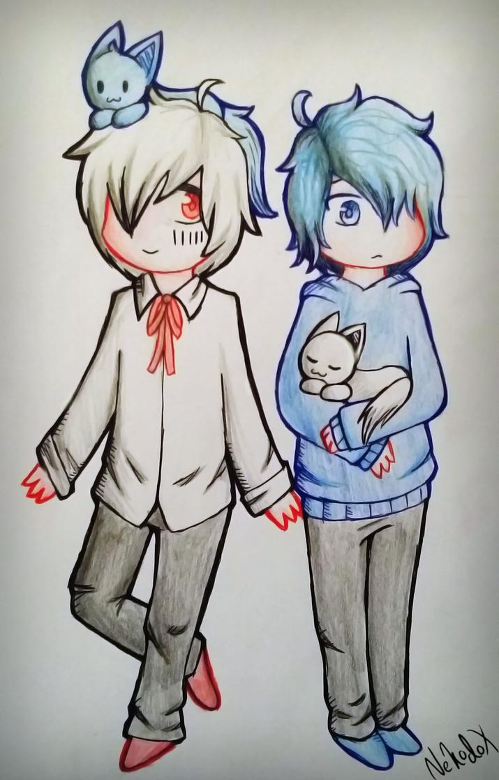 Mafu and Soraru by Nekodox