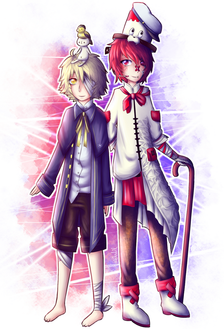 Fukase and Oliver by Nekodox