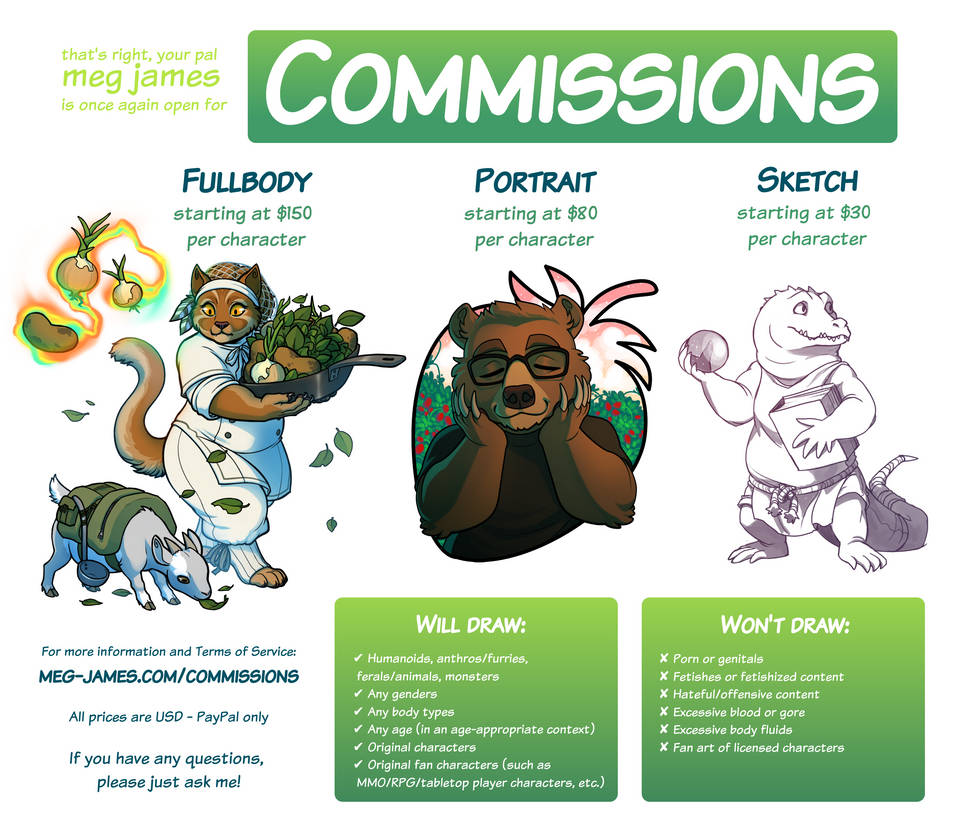 Commissions open! (updated 12/11/20)