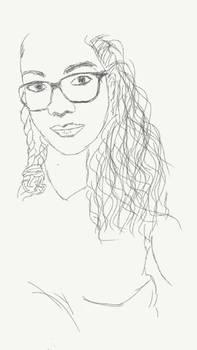 Glass girl sketch
