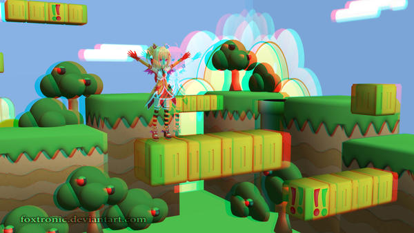 MMD Lilith (Pic 1) [Anaglyph 3D] by Foxtronic