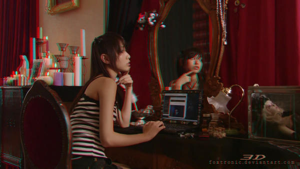 Death Note (Misa) [Anaglyph 3D] by Foxtronic
