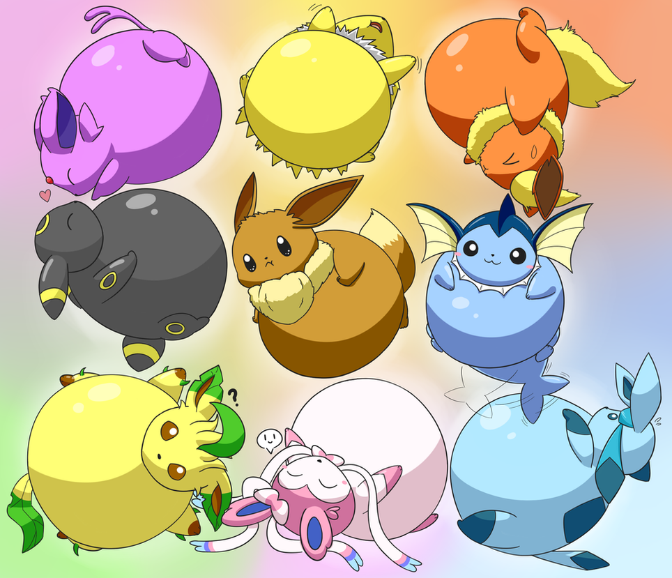 Inflated Eeveelutions By Selphy6 On DeviantArt