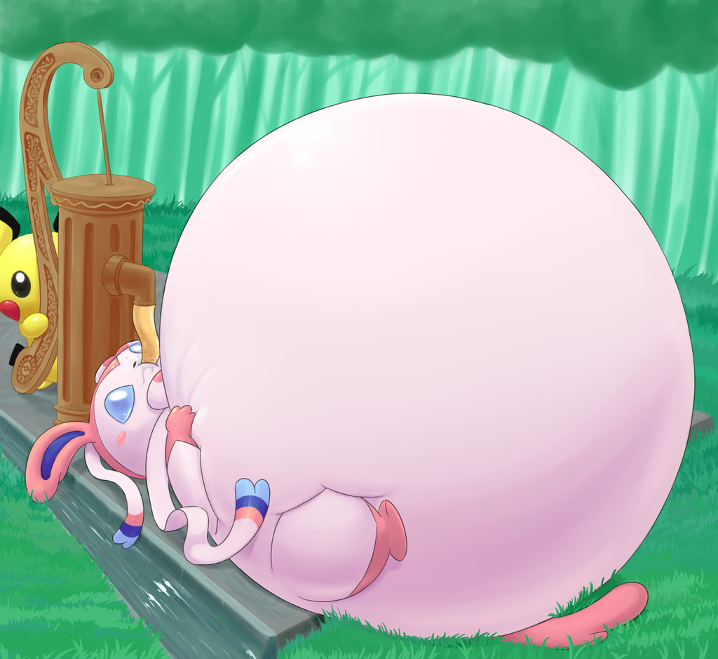 Inflated Sylveon By Selphy6 On DeviantArt