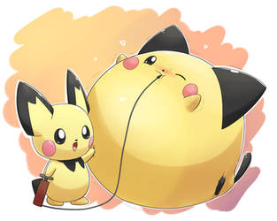 Inflated (beta) Pichu by selphy6