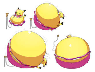(Commission) Inflated Pop Star Pikachu by selphy6