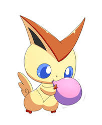 (Commission) Victini and Balloon 1/4 by selphy6