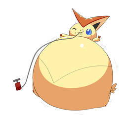 (Commission) Inflated Victini 2/4 by selphy6