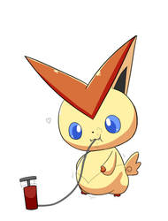(Commission) Inflated Victini 1/4 by selphy6