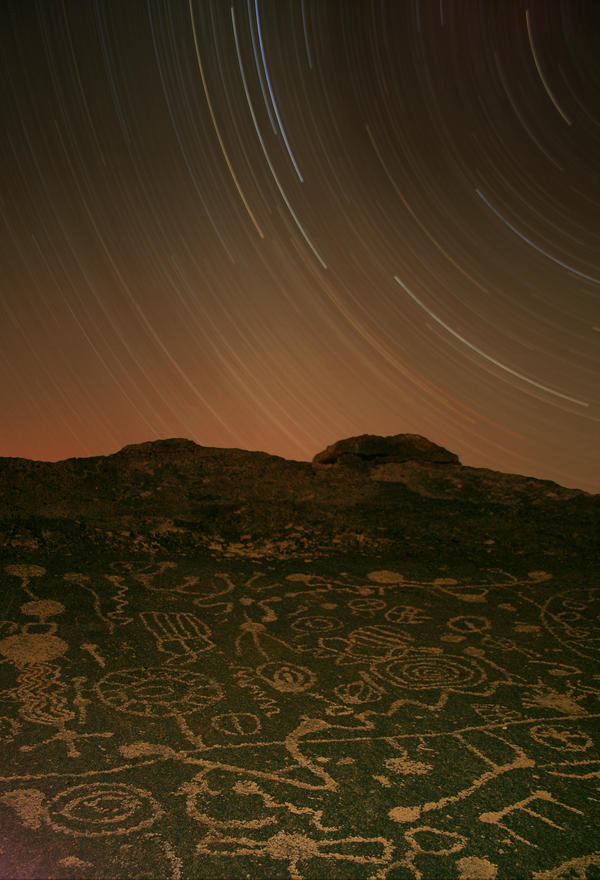 Three Hour Petroglyph Exposure by tcore