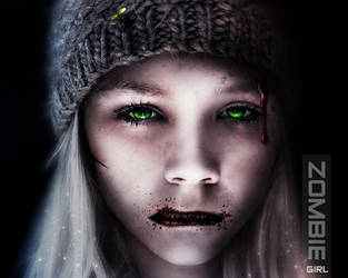 Zombie girl by devzign