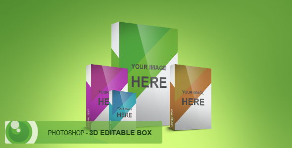 FREE Photoshop 3D customizable box by devzign