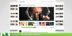 FREE - BugVideo free PSD web template