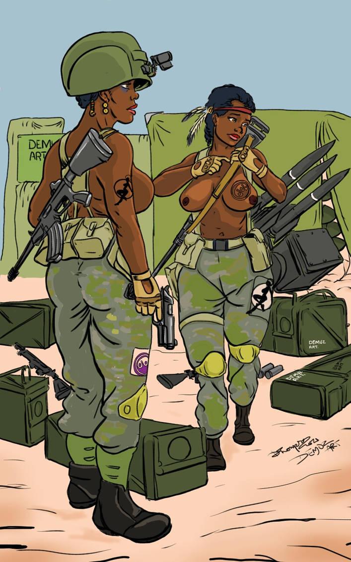 Demuz Art militray illustration2 sgt smoking black by DemuzArt