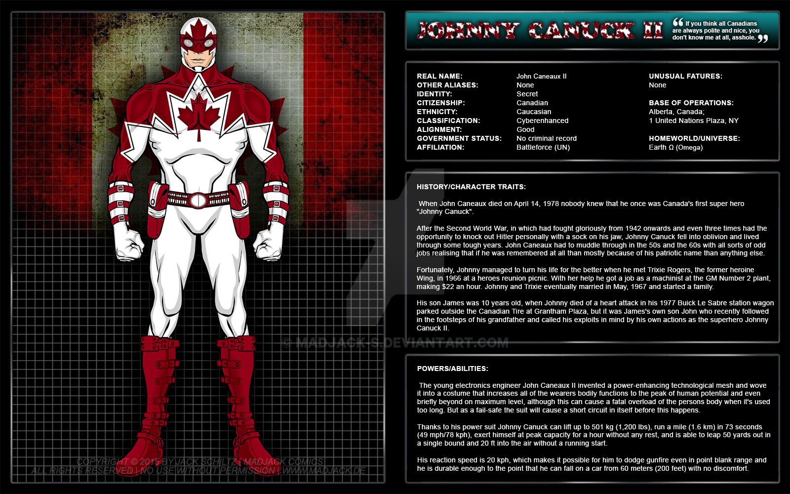Johnny Canuck II (Canada) By MadJack-S On DeviantArt