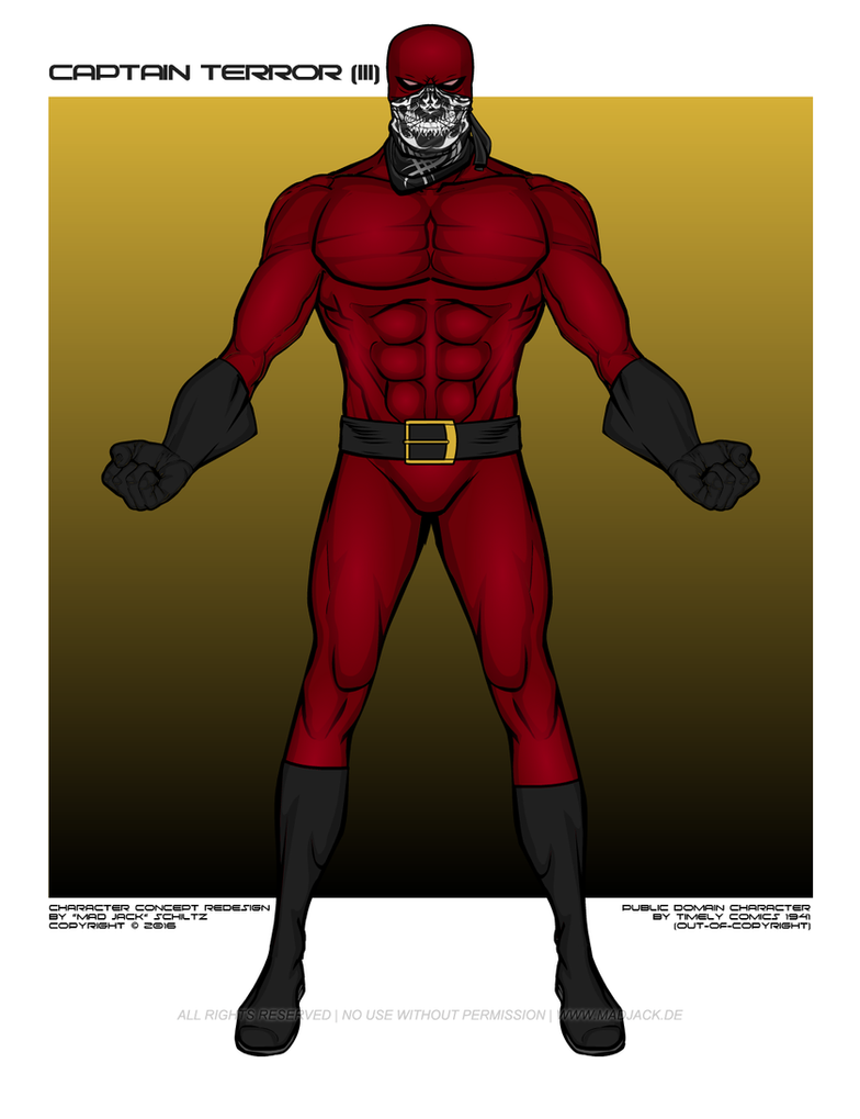 Captain Terror Timely By Madjack S