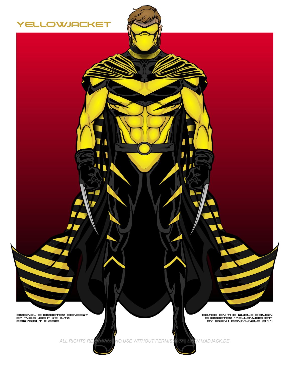 Yellowjacket Is Based On The Public Domain Character Yellowjacket By Frank Communale Pdsh Wikia Com Wiki Yellowjacket