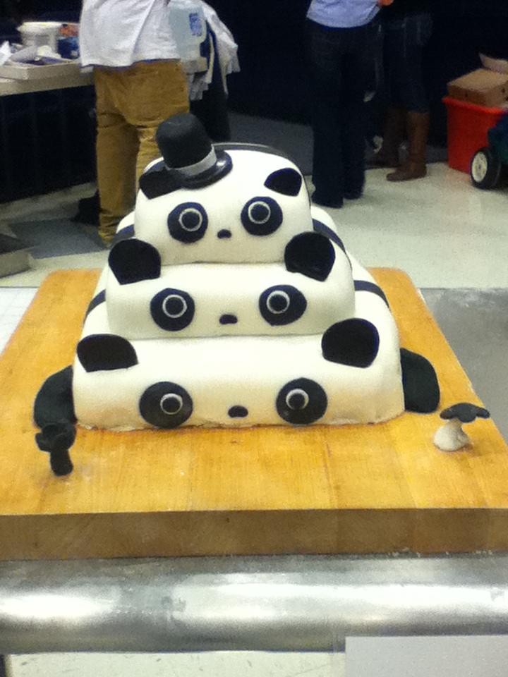 Panda Cake by dinochickrox