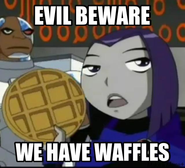 Waffles by dinochickrox