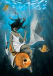 Lady of the goldfish