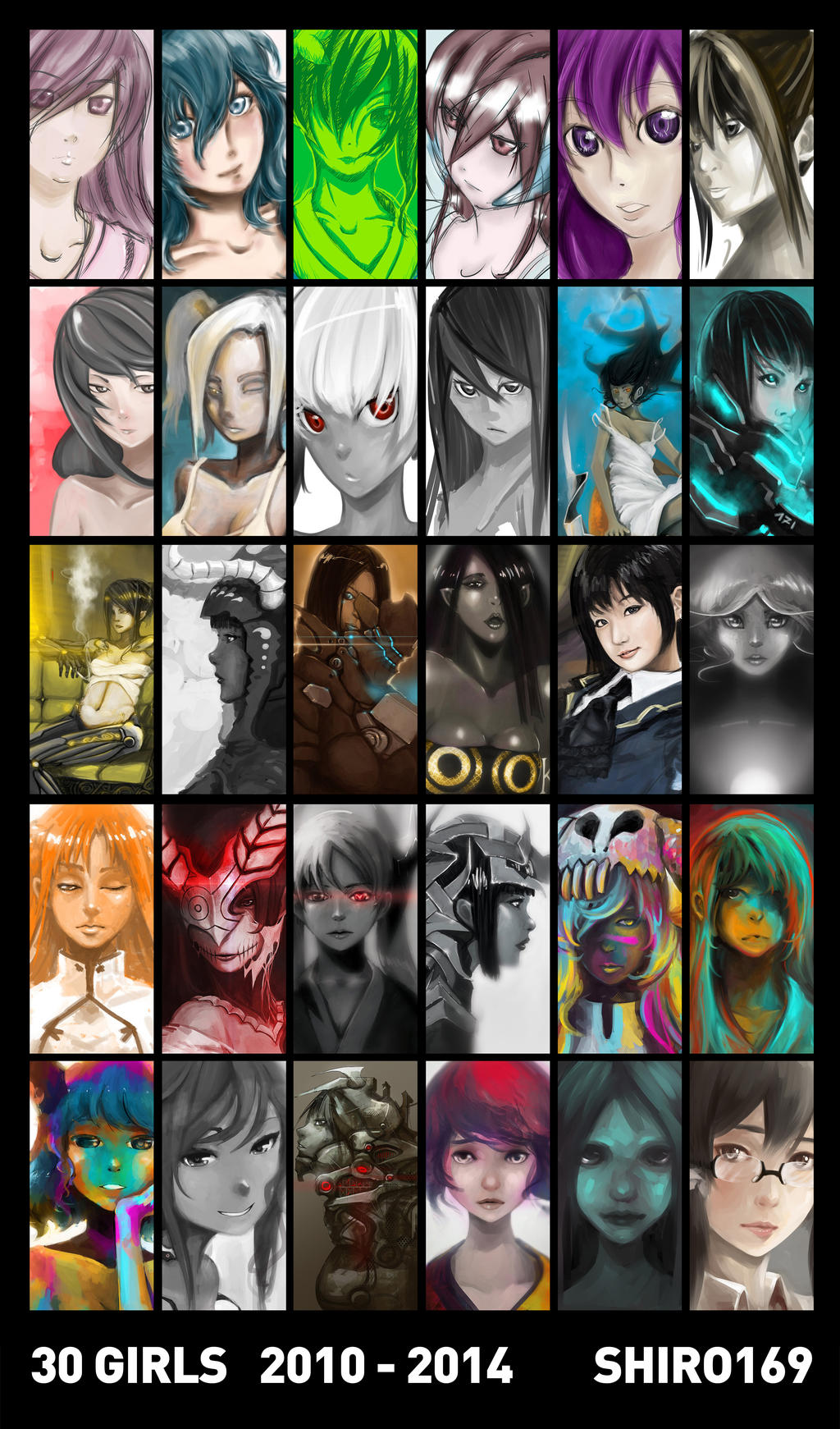 30 GIRLS retrospective 2010-2014 by Shiro169