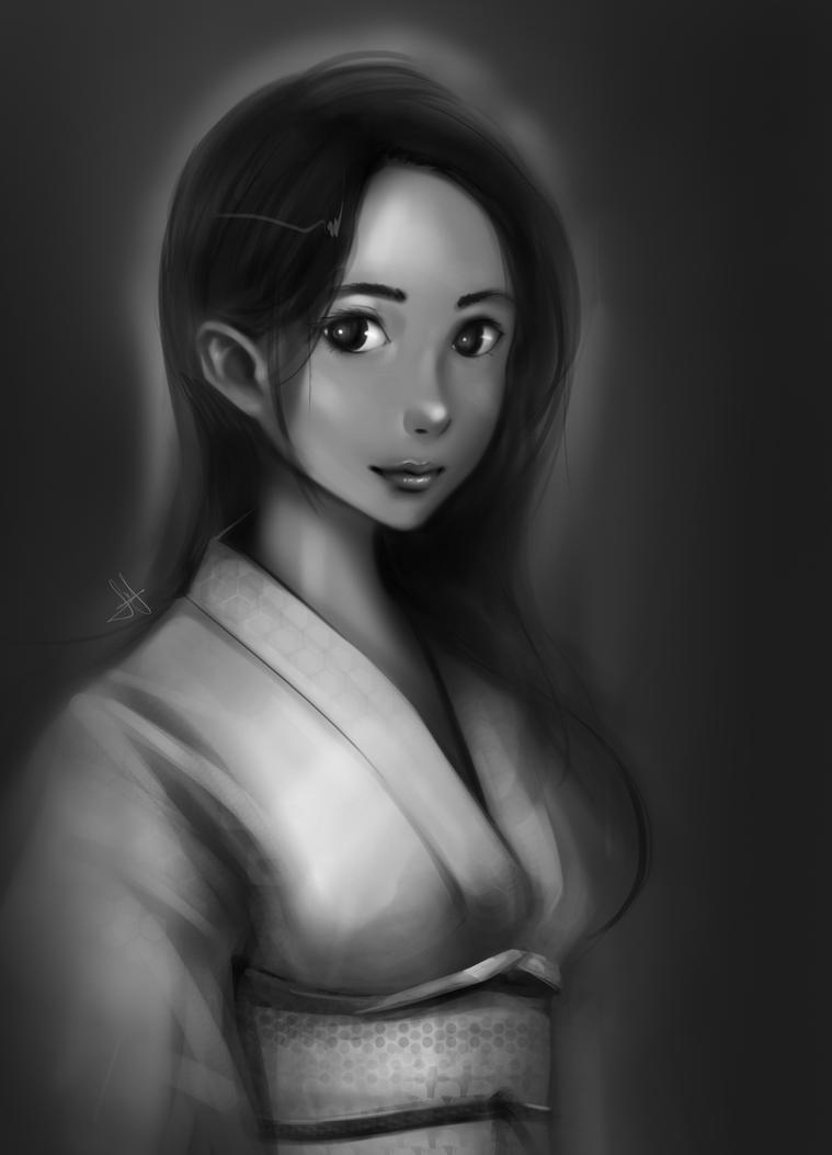 Daily Sketch 0015.2 Lady Kimono by Shiro169