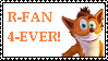 R-Fan 4-Ever Crash Fan Stamp by InsaneStar7