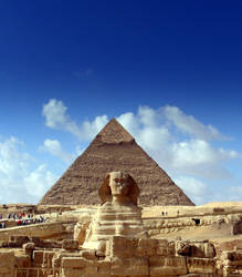 Khafre and Sphinx by falsafat