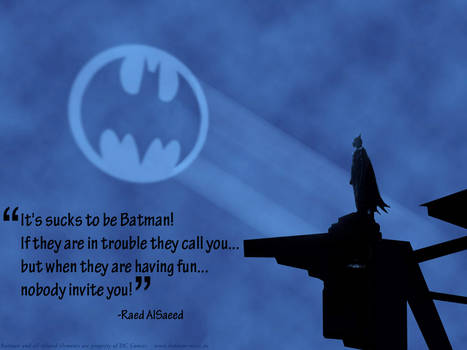 It's sucks to be Batman
